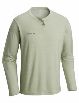 "New Mens Columbia ""Thistletown Park"" Henley Omni-Wick Long S"