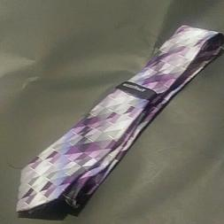 New VAN HEUSEN - Pink, Purple , gray Abstract Silk Men Neck