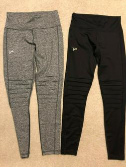 New Women's Puma Moto Tight Leggings Yoga Pants Black Gray S