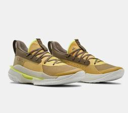 NIB Under Armour Curry 7 Mens Basketball Shoes Zeppelin Yell
