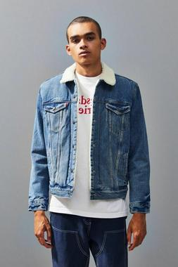 NWT $128 Levis Type III Sherpa Lined Denim Jacket Trucker Cu