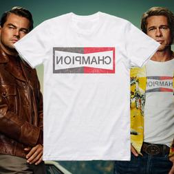 Once upon a time in Hollywood Brad Pitt Champion T-Shirt SG4