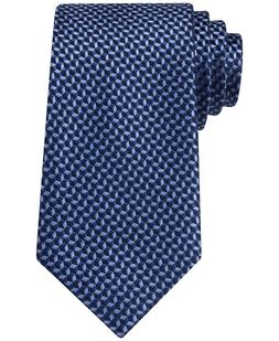 MICHAEL KORS Silk Linked Hexagon Dark Navy Neat Tie New Free