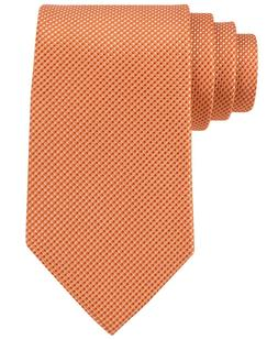 MICHAEL KORS Silk Sorento Solid Orange Neat Tie New Free Shi