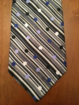 Silk Tie Unlisted by Kenneth Cole Gray White Black Lavender