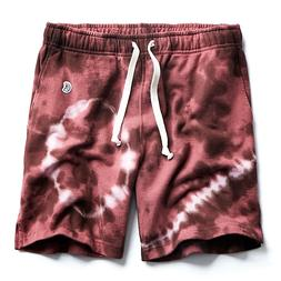 Todd Snyder + Champion Terry Warm Up Short Tie Dye Plum Size