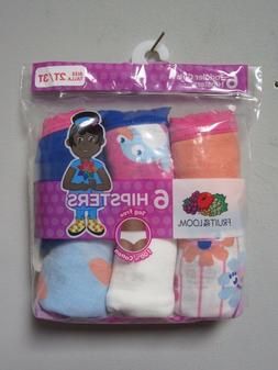 Fruit of the Loom Toddler Girls 6-Pair Hipsters Multi-Color