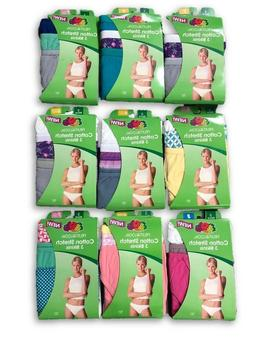 Fruit of the Loom Underwear Womens 3 Pack Cotton Low-Rise Bi