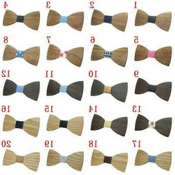 USA Fashion Boys Men Butterfly Wooden Bowties Party Bowties