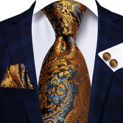 usa gold blue brown paisley mens tie