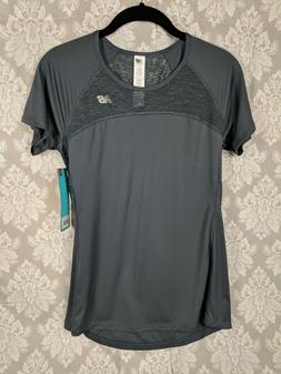 New Balance Womans Workout Tee Burnout Fitness Athletic Gray