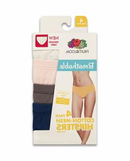 Fruit of the Loom® Women's Breathable Cotton-Mesh Hipsters,
