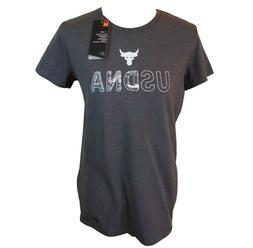 Under Armour Women's Project Rock T Shirt Tee USDNA Sizes S