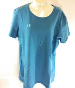 Womens Under Armour UA 1219743 450 Teal Blue Charged Cotton