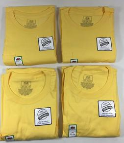 Fruit of the Loom Yellow 100% Cotton Crew w/ Pocket T-Shirt